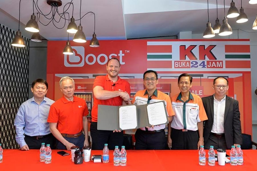 KK Super Mart Going Advanced on Cashless Payment with Partner, Boost app