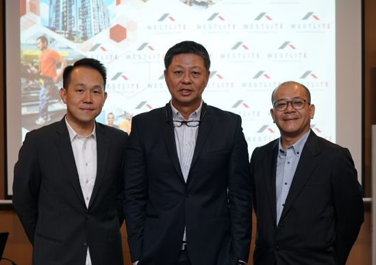 Representatives from Westlite Accommodation: (from left) Mr. Alfred Lee, Deputy Head of Worker Accommodation Business and Country Head of Malaysia of Centurion Corporation Limited, Mr. Kelvin Teo, Executive Director and Chief Operating Officer of Accommodation Business of Centurion Corporation Limited and Mr. David Phey, Head of Corporate Communications of Centurion Corporation Limited.
