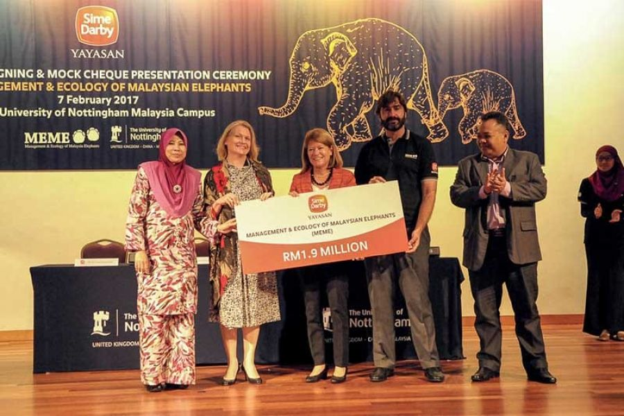 Yayasan Sime Darby Extends Sponsorship for the Management and Ecology of Malaysian Elephants