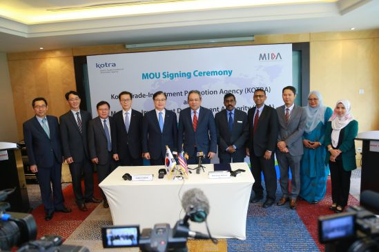 MIDA and KOTRA Signs Mou For Investment Promotion Cooperation